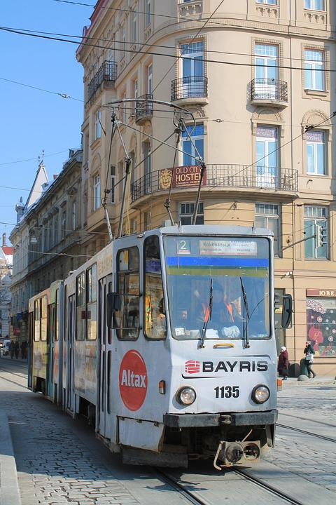 Street, Megalopolis, Travel, To Go To The Tram, Tram