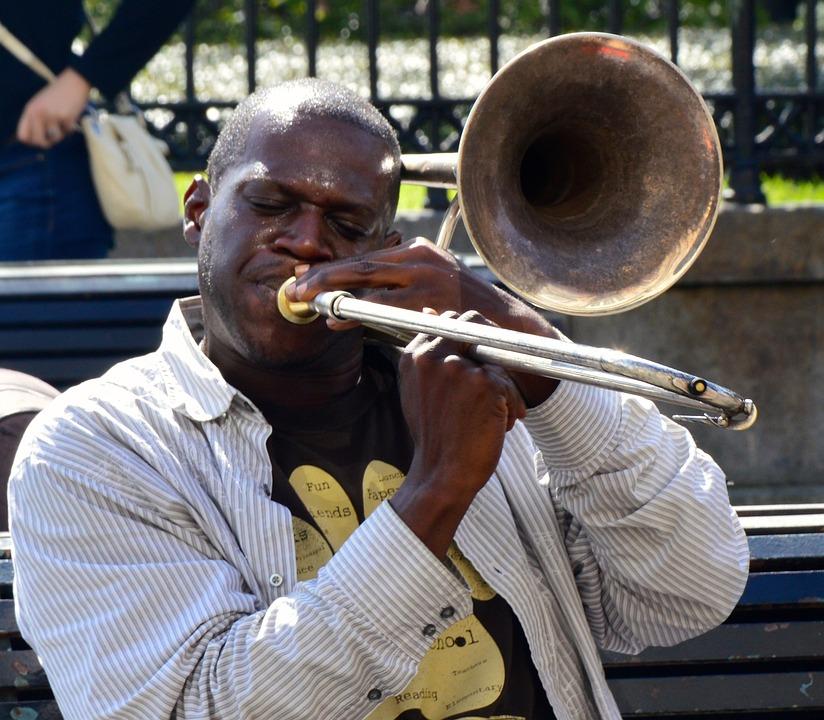 Jazz, Musician, Artist, Street, Trompete
