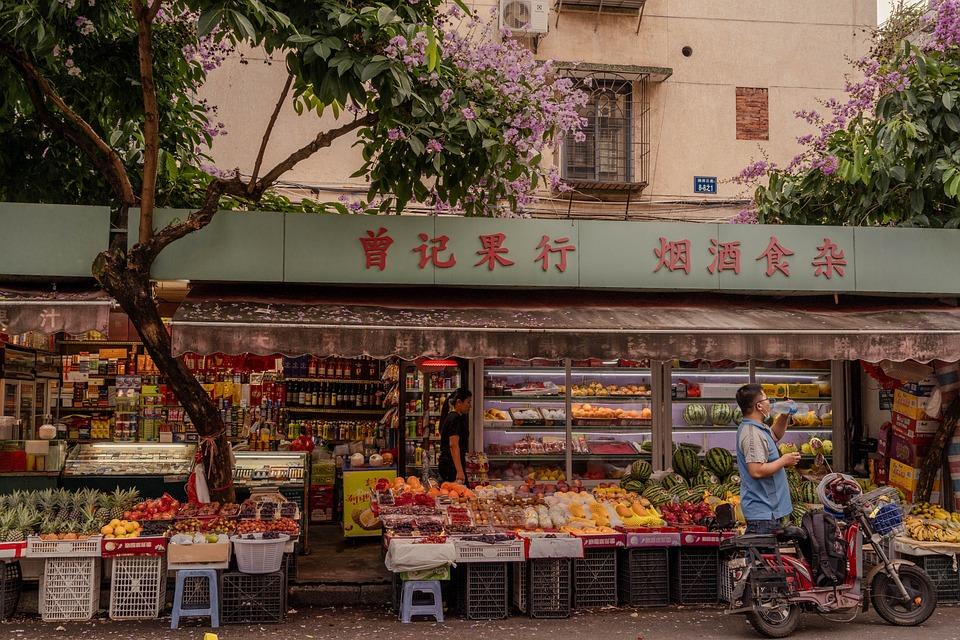 Market, Twilight, Street