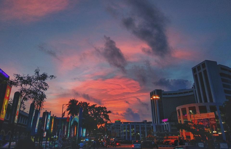 Street, Building, Evening, City Evening, City, Urban