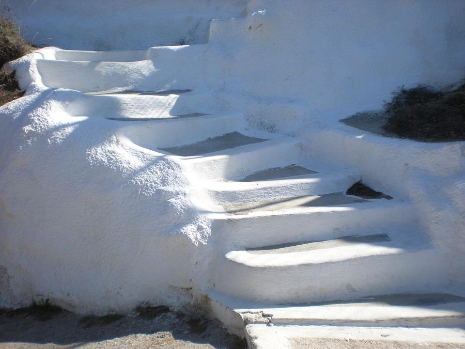 Santorini, Greek Island, Greece, Stair, Street View