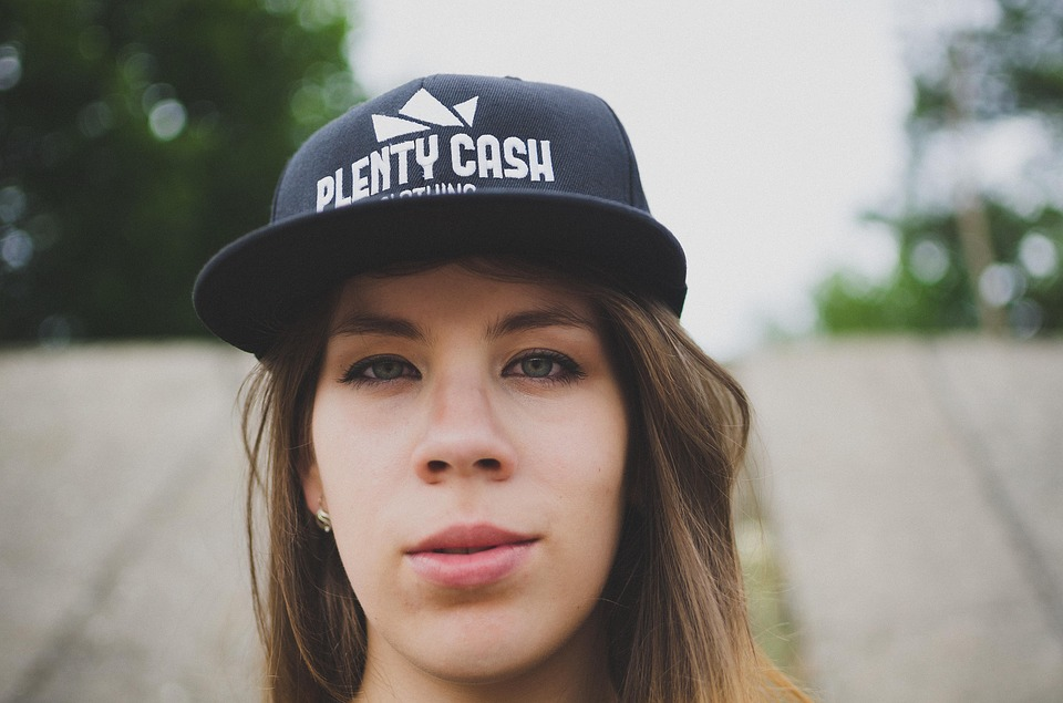 Portrait, Caps, Snapback, Girl, Teenager, Street Wear
