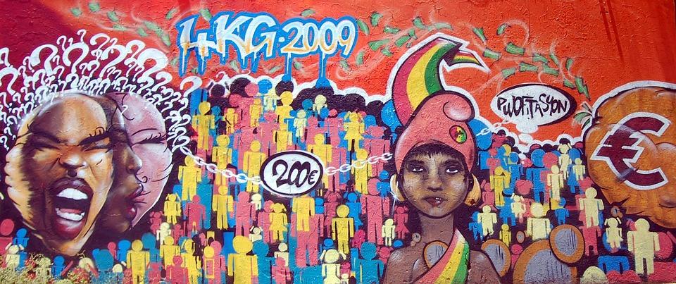 Streetart, Graffiti, Frescoes