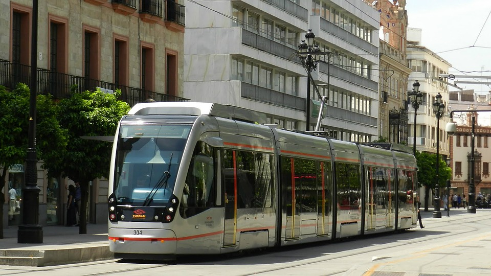 Tram, Seville, Streetcar, Transit, Rail