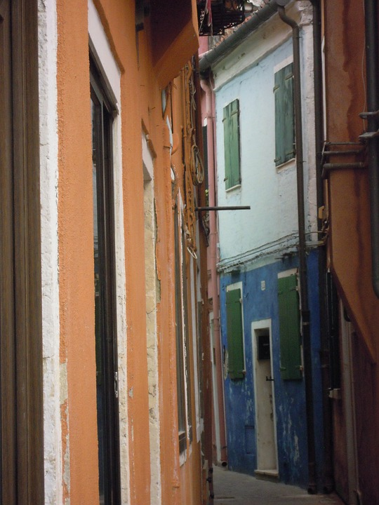 Streets, Houses, Colored