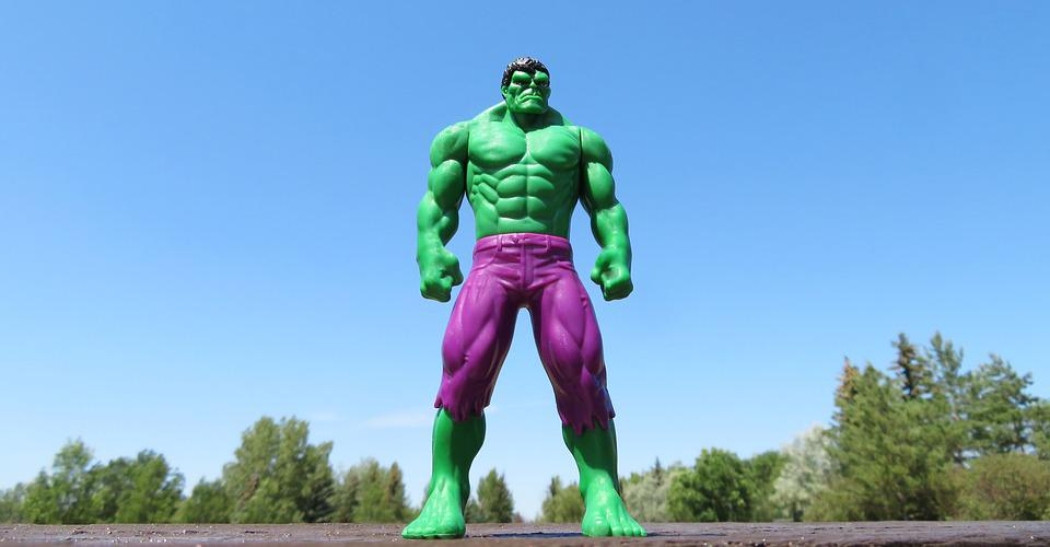 Incredible Hulk, Superhero, Green, Strong, Strength