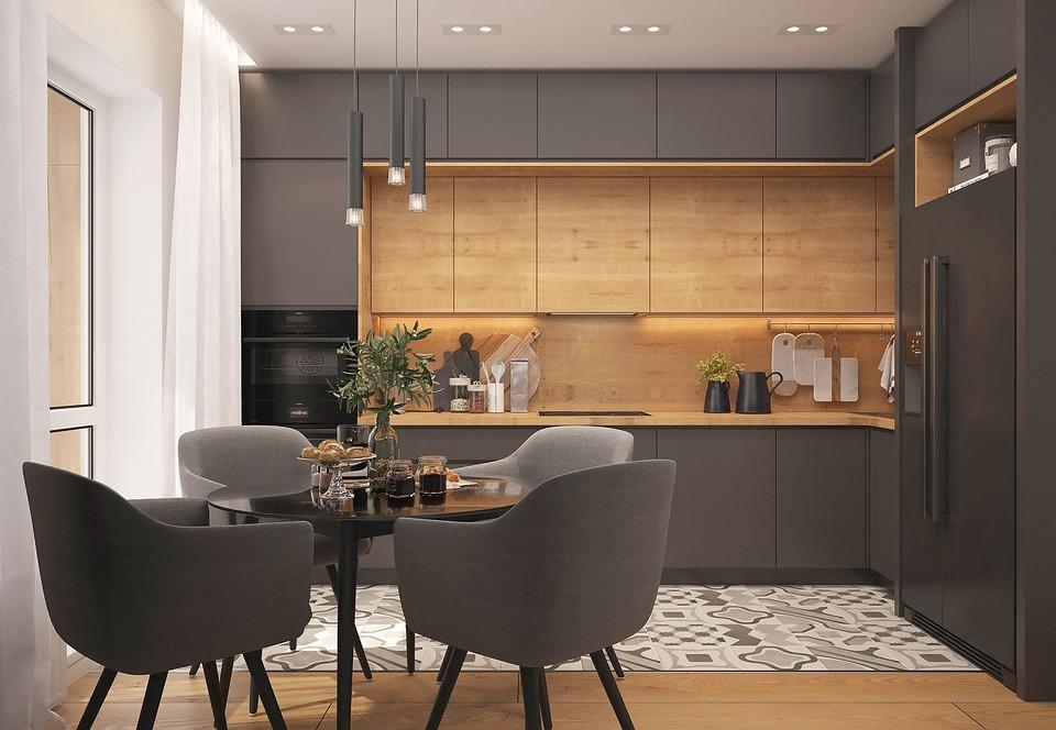 Kitchen, Loft, Strict Style, Interior Design