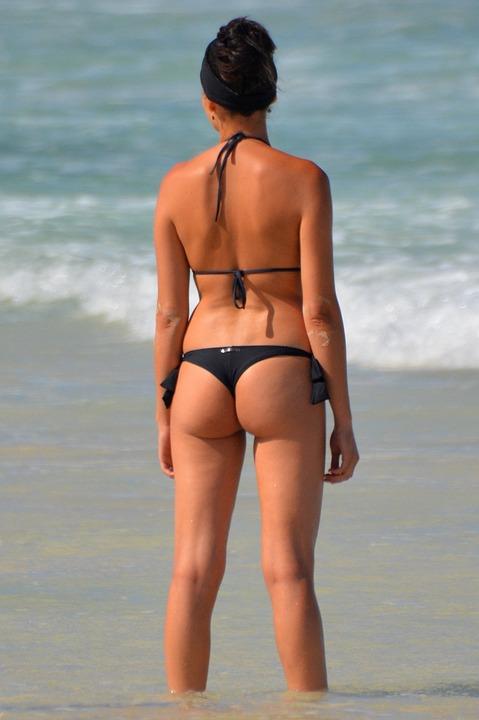 Woman, Buttocks, String, People, Bikini, Sexy, Sea