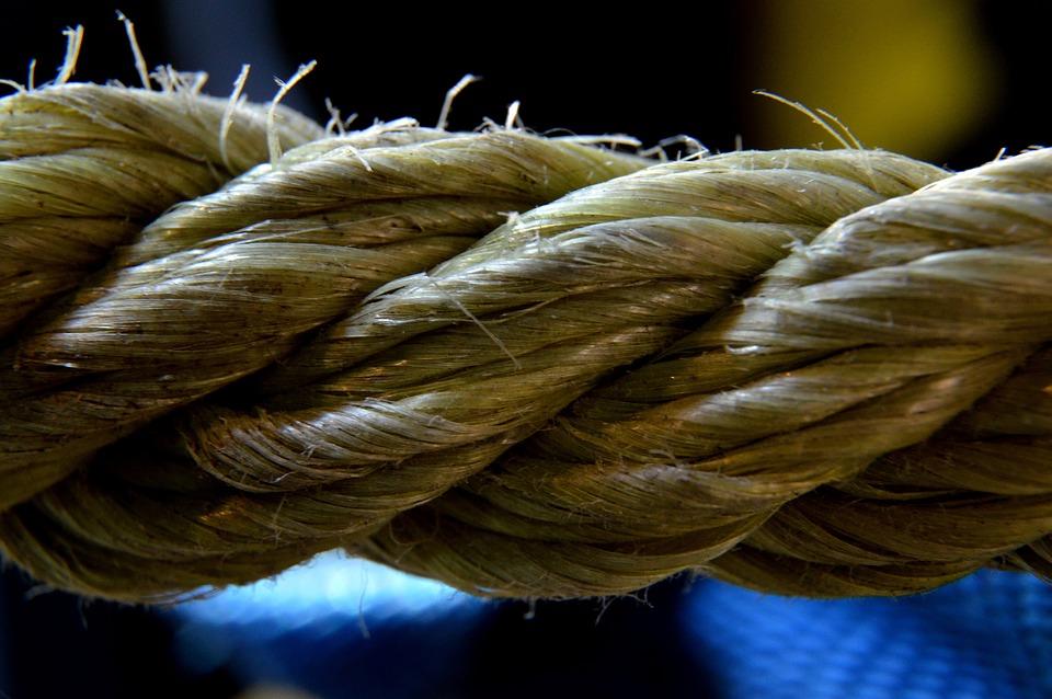 Rope, String, Old, Closeup, Yellow, Macro