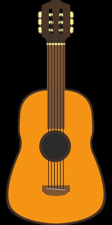 Guitar, Vector, Music, Strings, Stringed Instrument