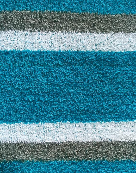 Textile, Texture, Terry Cloth, Stripes, Aqua, Azure
