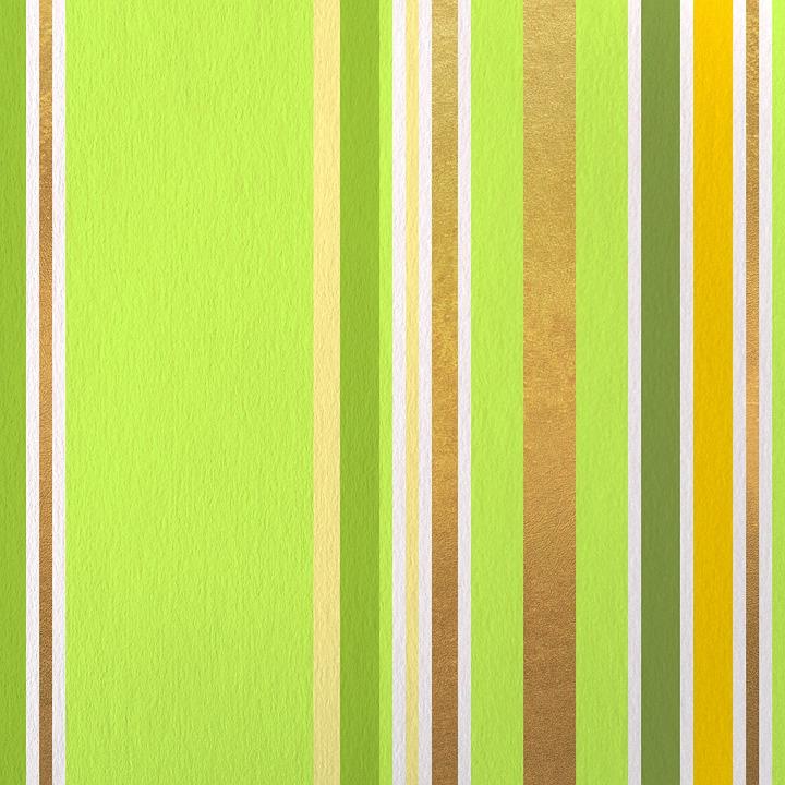 Stripes, Green, Golden, Background, Scrapbooking
