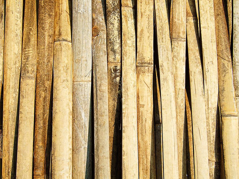 Bamboo, Texture, Thailand, Brown, Background, Stripes