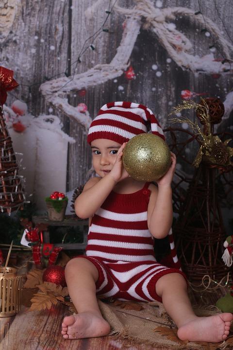 Christmas, Stripes, Gold, Celebration, Striped, Red