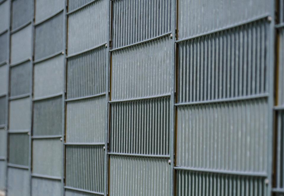 Wall, Metal, Demarcation, Stripes, Structure