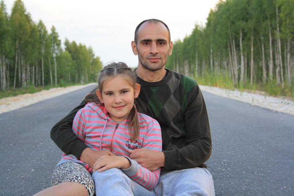 Road, Family, Man, Girl, Stroll, Journey, Life Style
