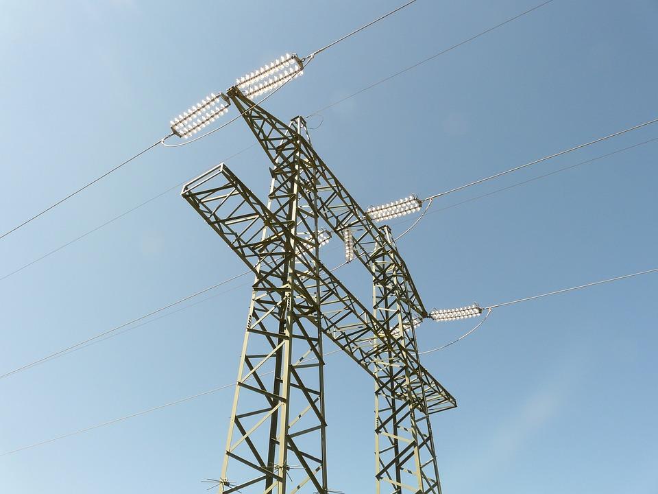 Current, Strommast, Electricity, High Voltage, Pylon