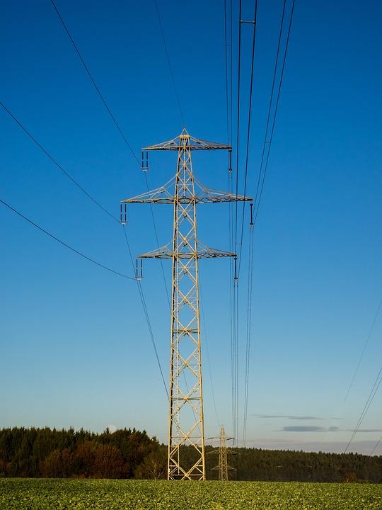 Strommast, Sky, Morning, Energy, Power Line