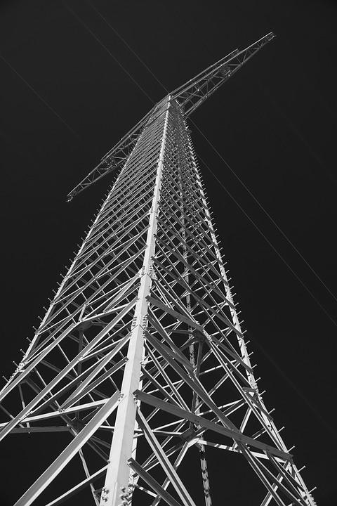Strommast, Power Line, Pylon, Sky, Line, Reinforce