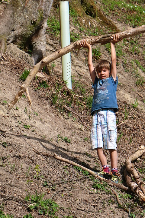 Child, Construction Pole, Large, Strong, Strength