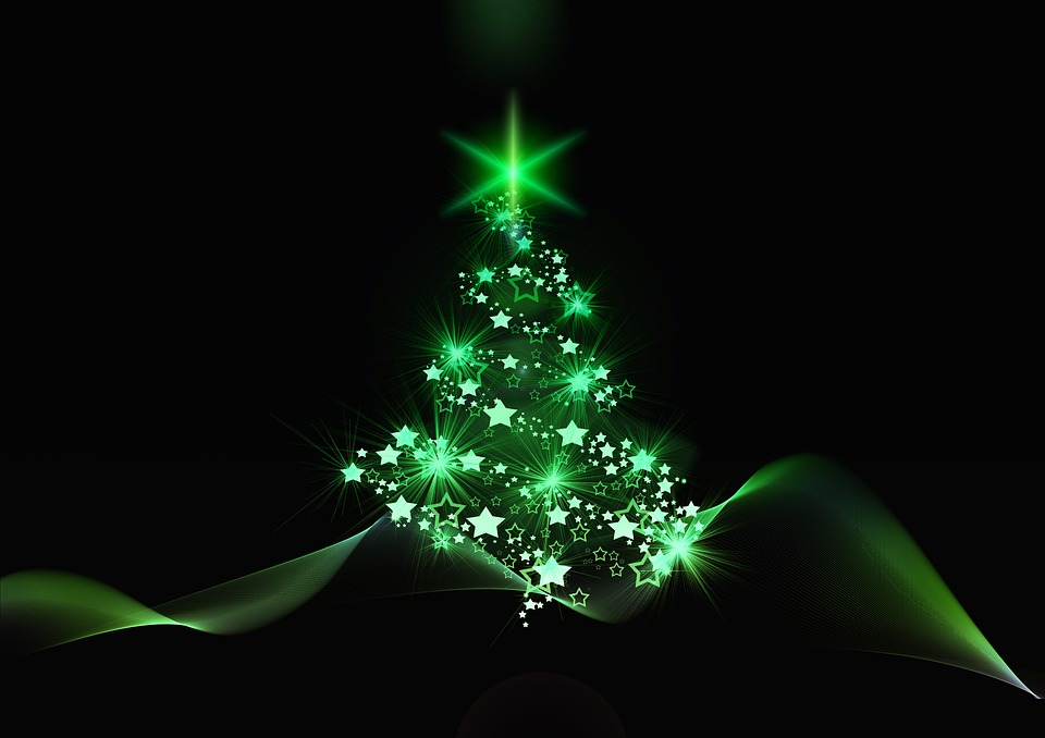 Free photo structure blue christmas tree christmas background max