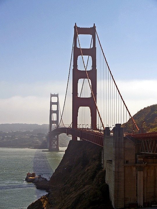 Bridge, Suspension, Architecture, Structure, Cable