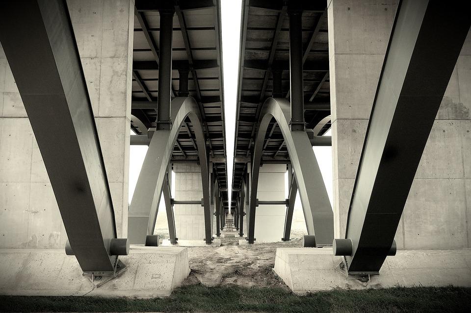 Bridge, Steel, Structure, Architecture, Symetry