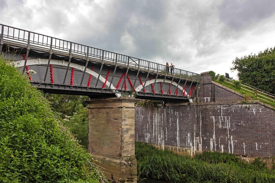 Viaduct, Bridge, Structure, Canal, Landscape, Landmark