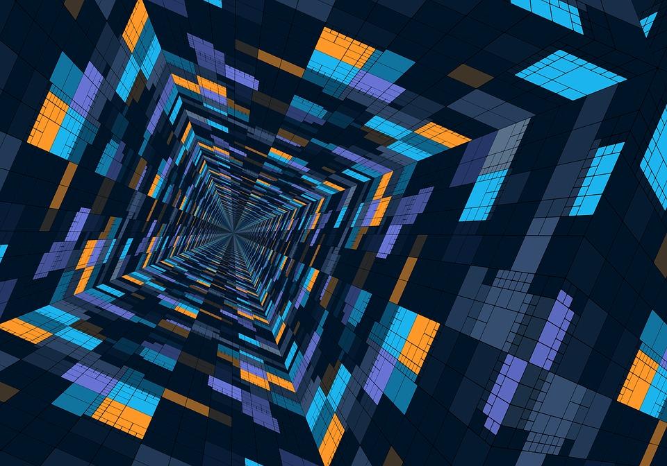 Perspective, Design, Structure, Geometric, Futuristic