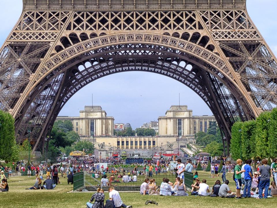 Paris, France, Eiffel Tower, People, Structure
