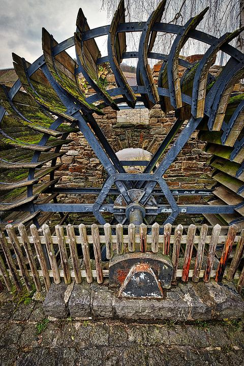 Ahrweiler, Old Wood, Structure, Waterwheel, Moss