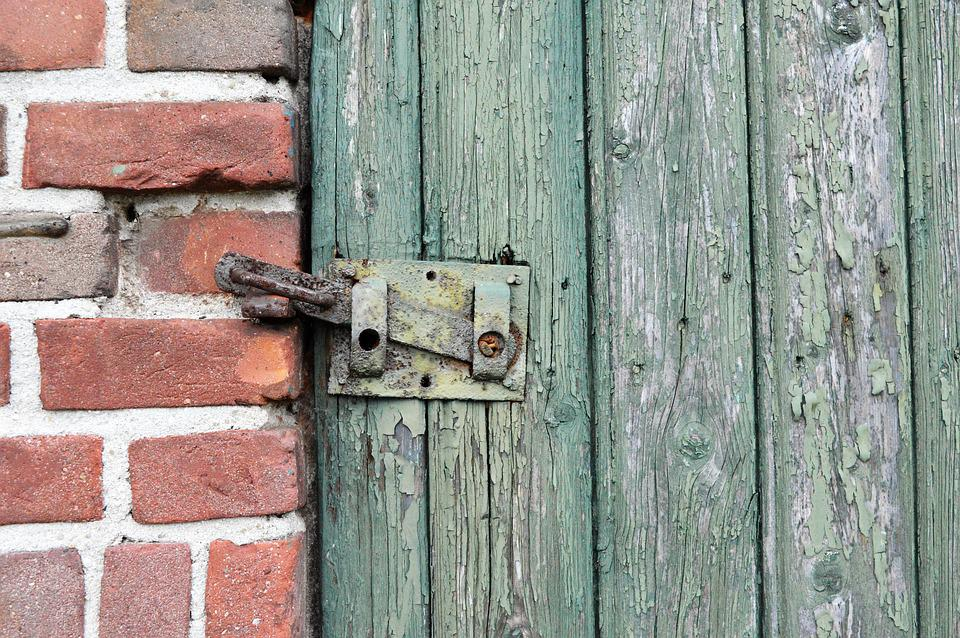 Wood, Old, Door, Wooden, Bolt, Facade, Wall, Structure