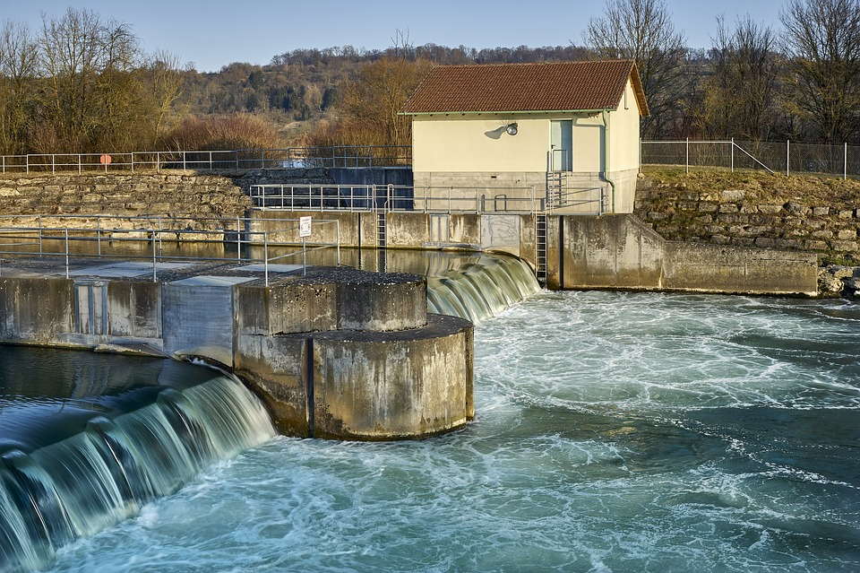 Neckar, Blocking Factory, Water, Strudel, Architecture