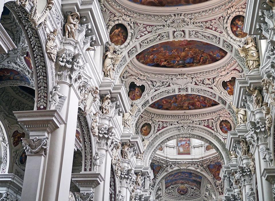 Church Vault, Passau, Dom, Decorated, Stucco