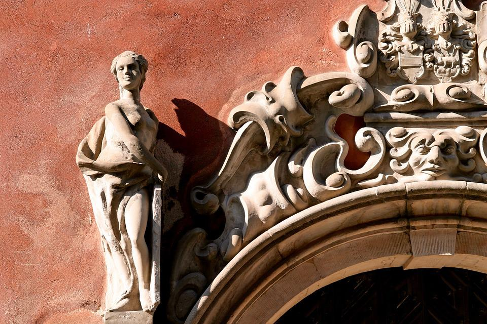 Stucco, Facade, Ornament, Old Town, Stucco Façade