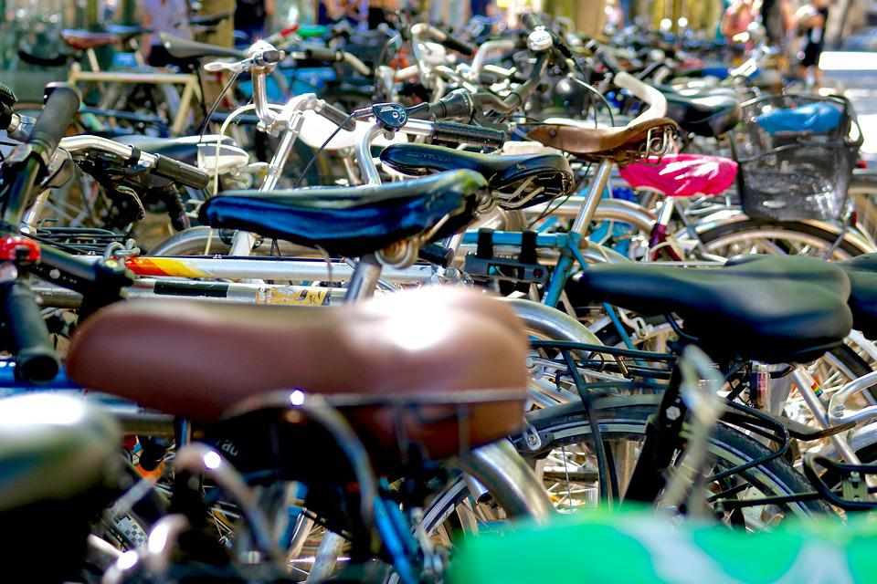 Bicycles, Downtown, Bike City, Students, Mobility