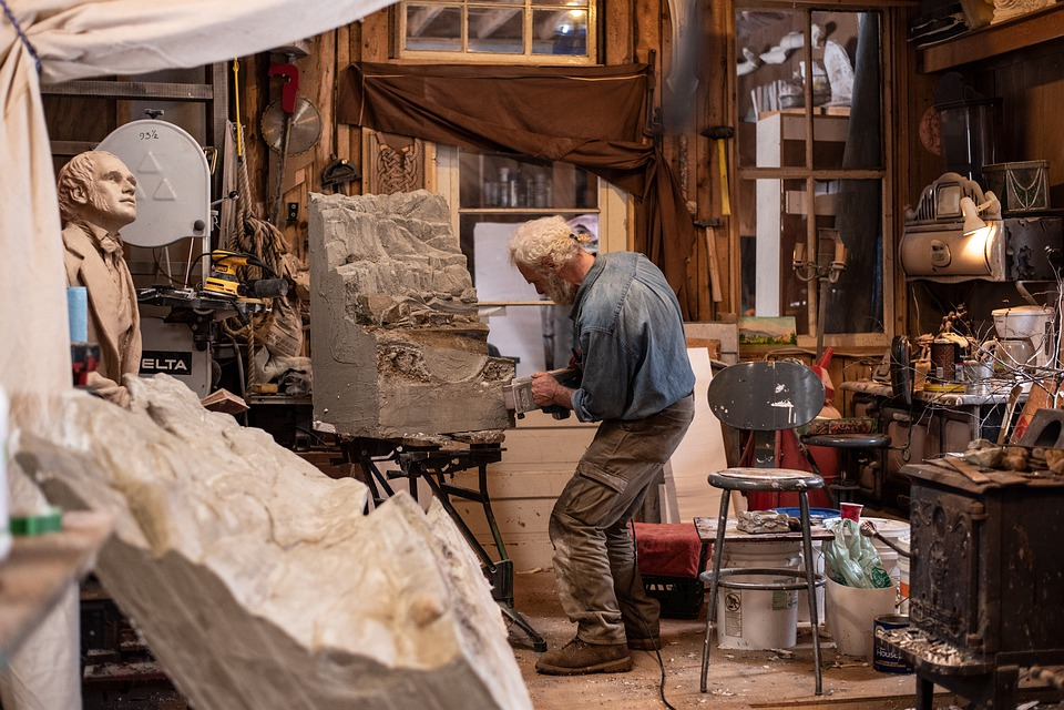 Studio, Art, Sculpture, Workshop, Tools, Artist