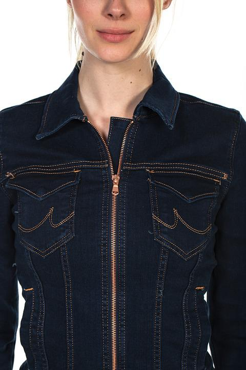 Model, Women's, Jacket, Jeans, Studio, Young Model