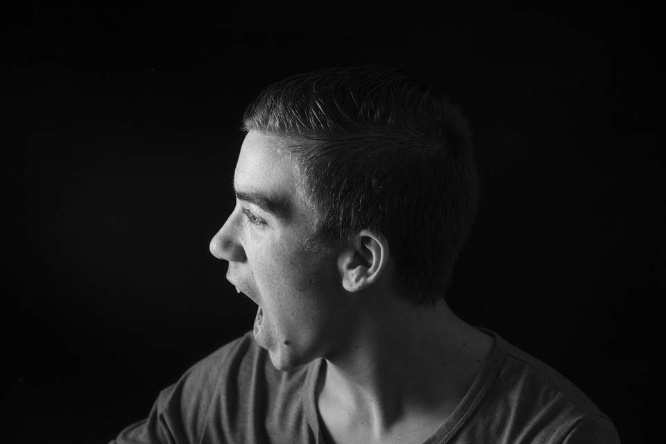Shout, Man, Studio, Male, Person, Despair, Mouth