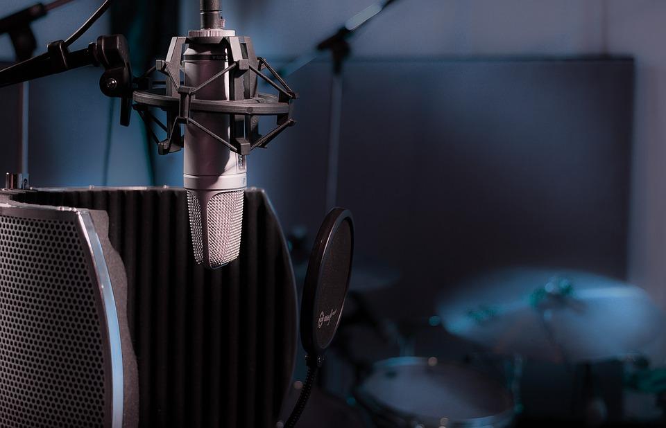 Studio, Micro, Microphone, Singing, Studio Recording