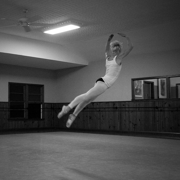 Girl, Dancer, Ballet, Tour Jete, Studio, Female