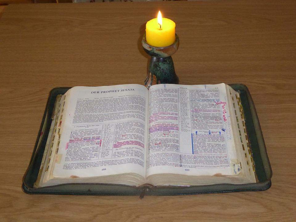 Bible, God's Words, Study, Pitched, Holy Scripture
