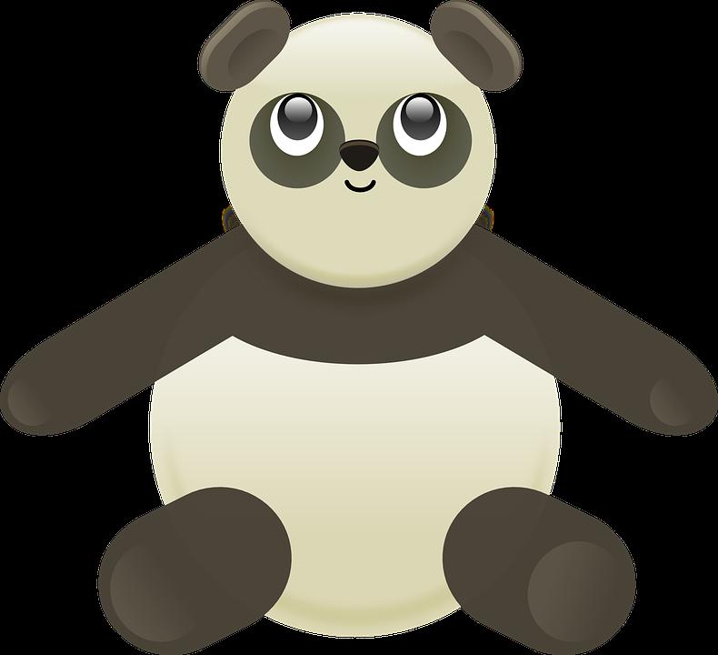 Panda, Stuffed, Bear, Animal, Toy