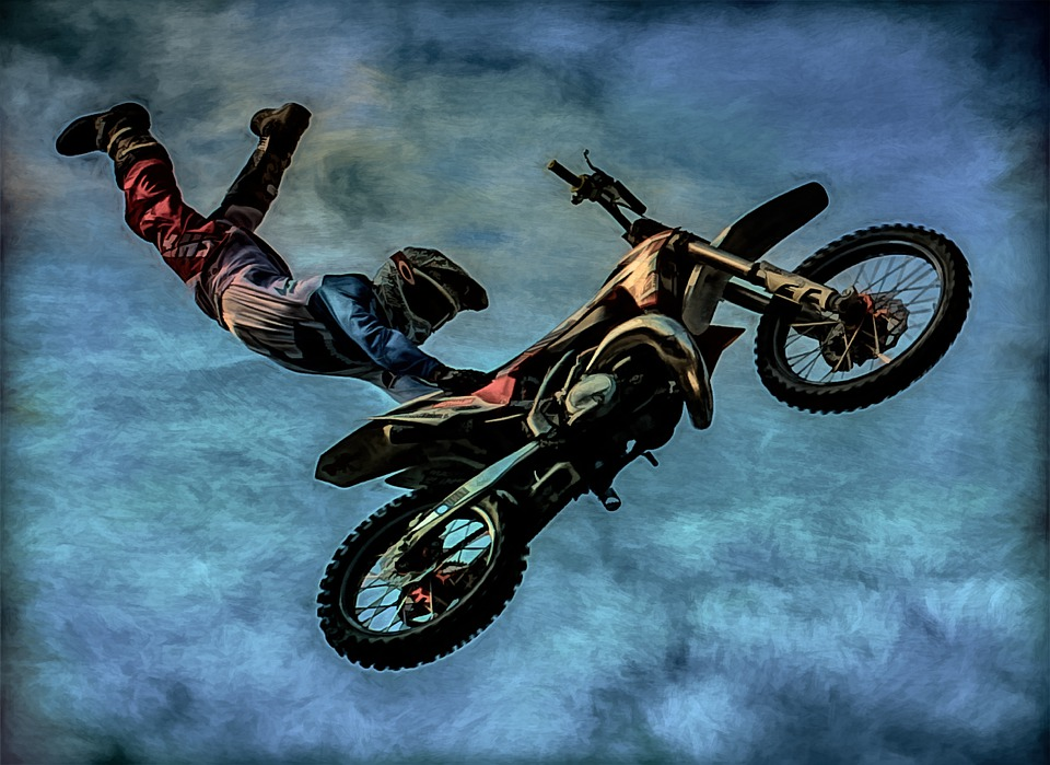 Art, Photo Art, Painting, Motorcycle, Stunt, Biker