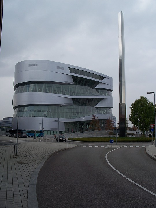 Stuttgart, Mercedes, Museum, Architecture, Building