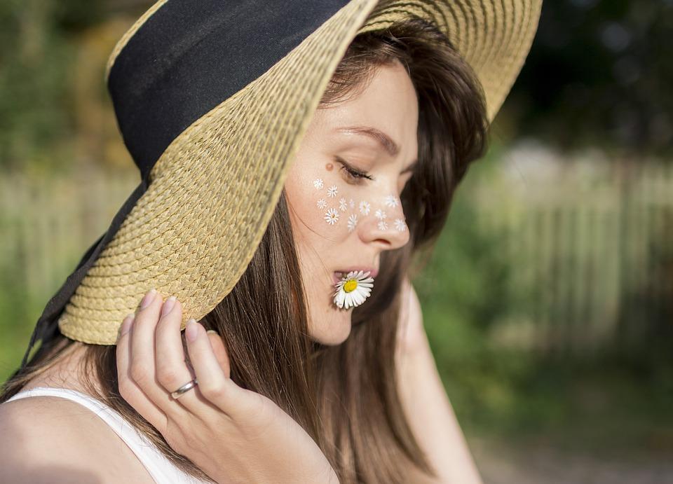 Woman, Model, Fashion, Daisy, Hat, Modelling, Style