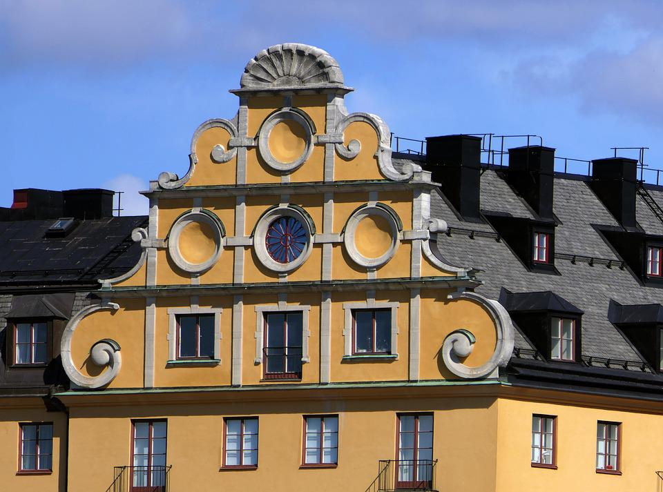 Facade, Roof, Pink, Style, Architecture, Stockholm