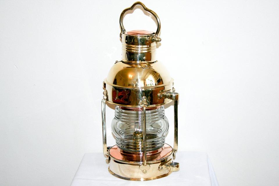 Nautical Brass Lamp, Stylish Lamp Navigation