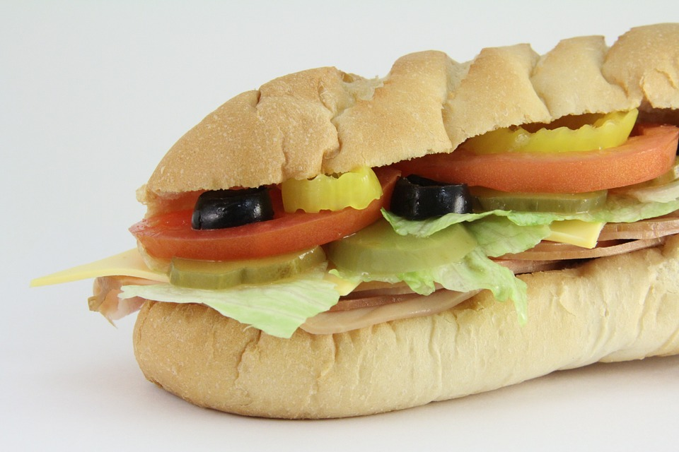 Submarine Sandwich, Sub, Subway, Sandwich, Lunch