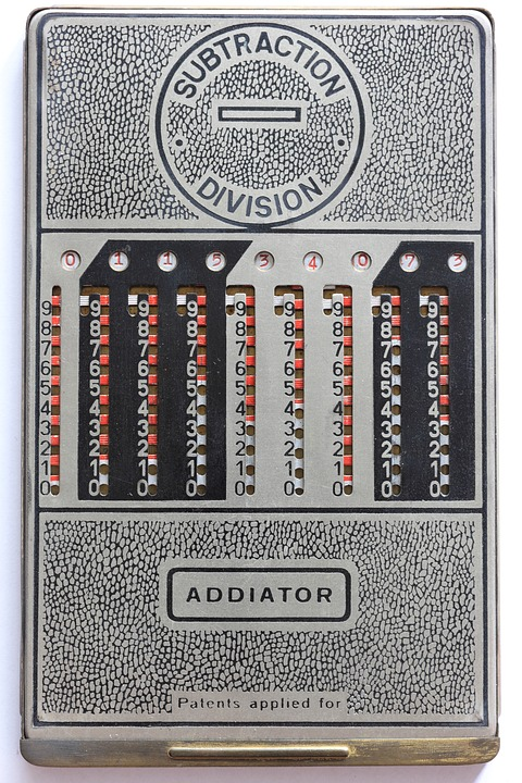 Addiator, Mechanical, Calculator, Add, Subtract